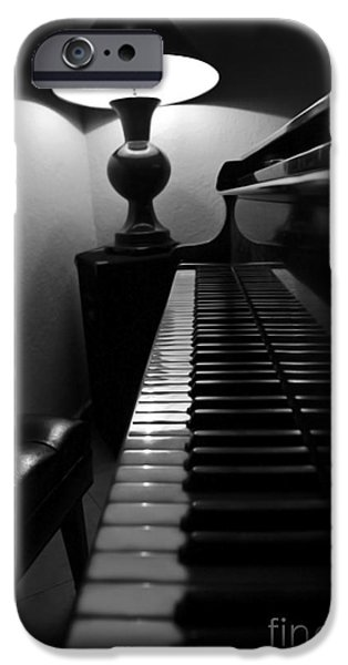 Piano iPhone Cases - Ebony and Ivory iPhone Case by Al Bourassa
