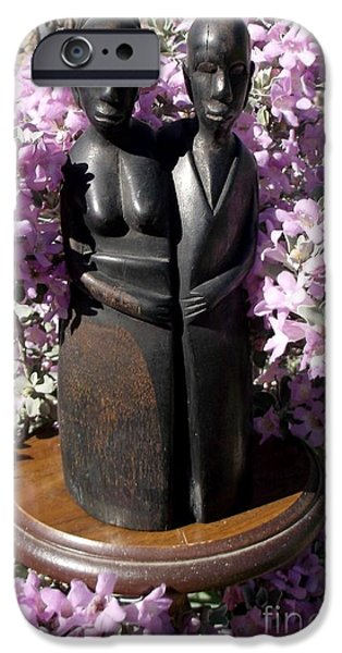 Ebony Carving Circa 1890's iPhone Case by Anthony Morris