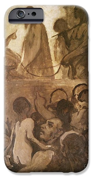 Balcony iPhone Cases - Ecce Homo iPhone Case by Honore Daumier
