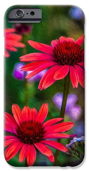 Echinacea and Yarrow iPhone Case by Omaste Witkowski