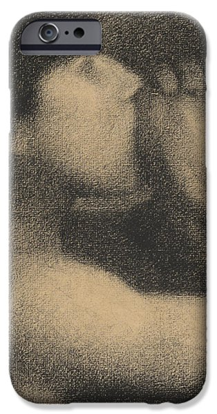 Print Pastels iPhone Cases - Echo iPhone Case by Georges Pierre Seurat