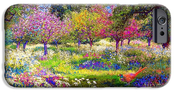 Blossoms iPhone Cases - Echoes from Heaven iPhone Case by Jane Small