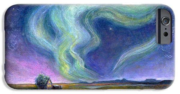 Virtual Paintings iPhone Cases - Echoes in the Sky iPhone Case by Retta Stephenson