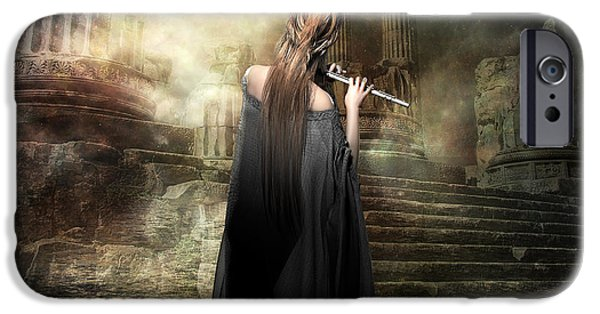 Greek Goddesses iPhone Cases - Echoes of Euterpe iPhone Case by Shanina Conway