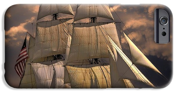 Tall Ship iPhone Cases - Echoes of the Past iPhone Case by Brigitte Werner