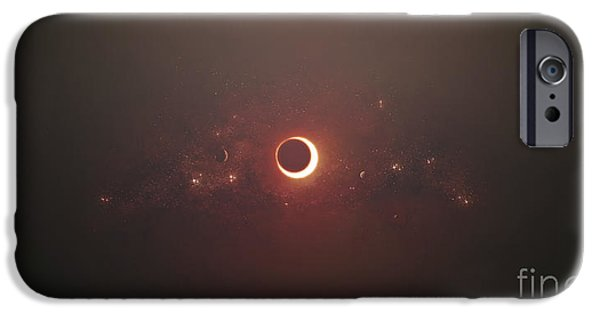 Concept Art iPhone Cases - Eclipse Of The Sun In Nearby Solar iPhone Case by Tomasz Dabrowski