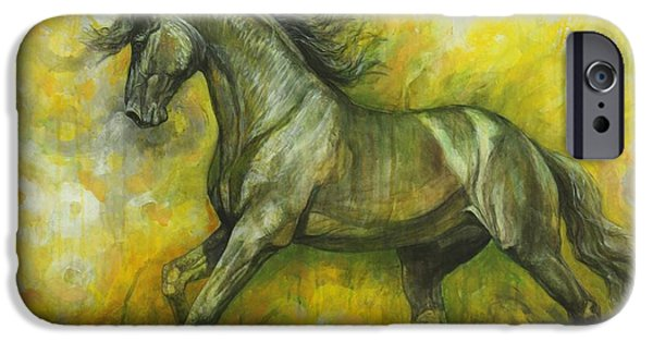 Horse Artist iPhone Cases - Eclipse iPhone Case by Silvana Gabudean