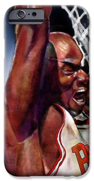 Eclipsing The Moon - Jordan  iPhone Case by Reggie Duffie