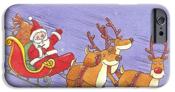 Christmas Eve iPhone Cases - Eco-Firendly Air Miles iPhone Case by Peter Adderley