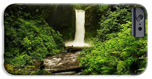 Rainy Day iPhone Cases - Ecola Falls  iPhone Case by Jeff  Swan