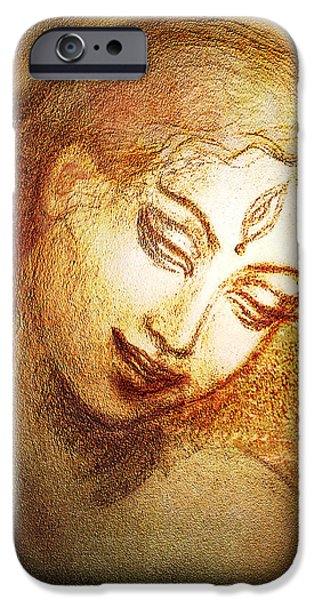 Hindu Goddess Mixed Media iPhone Cases - Ecstasy  iPhone Case by Ananda Vdovic