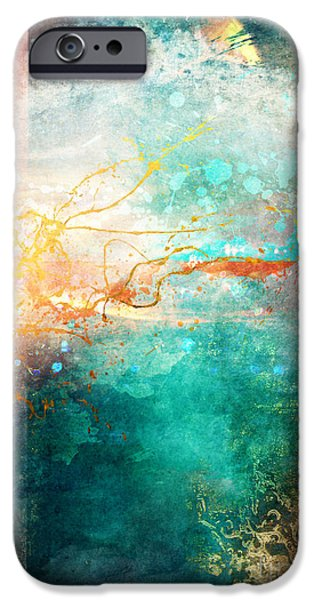 Abstract Digital Art iPhone Cases - Ecstatic iPhone Case by Aimee Stewart