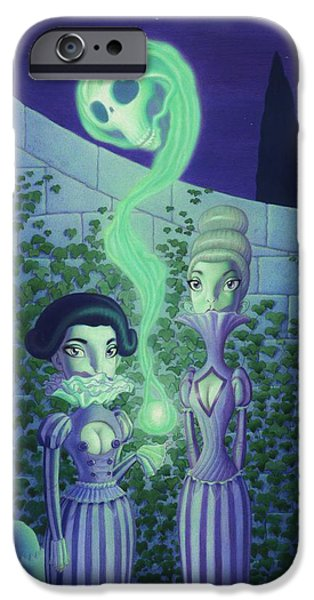 Fortune-teller iPhone Cases - Ectoplasm iPhone Case by Richard Moore