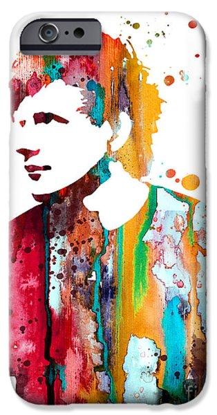 Watercolour Portrait iPhone Cases - Ed Sheeran iPhone Case by Luke and Slavi