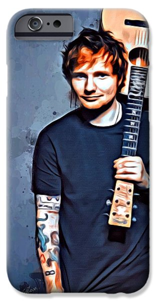 Digital Designs iPhone Cases - Ed Sheeran iPhone Case by Scott Wallace
