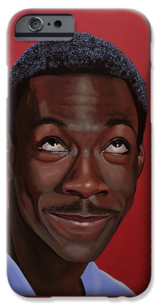 Comedian iPhone Cases - Eddie Murphy iPhone Case by Paul Meijering