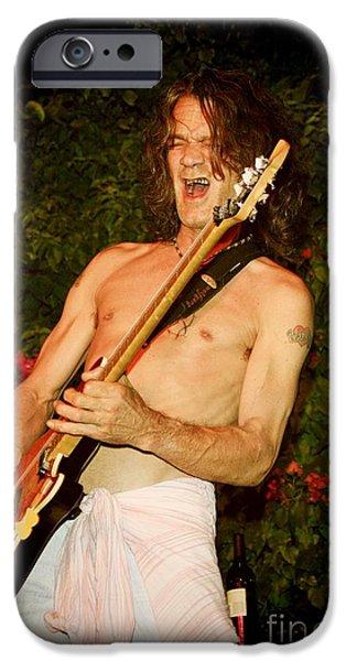 Torn iPhone Cases - Eddie Van Halen iPhone Case by Nina Prommer