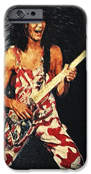 Van Halen iPhone Cases - Eddie Van Halen iPhone Case by Taylan Soyturk