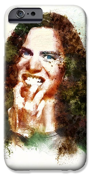 Pearl Jam iPhone Cases - Eddie Vedder in the Golden Age of Grunge iPhone Case by Marian Voicu