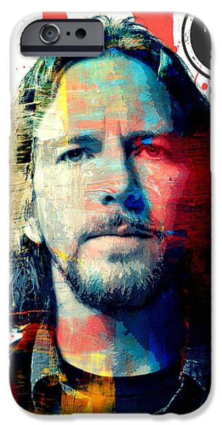 Pearl Jam iPhone Cases - Eddie Vedder iPhone Case by Jessica Echevarria