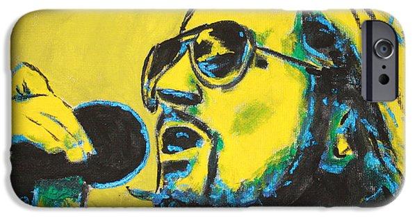 Pearl Jam Paintings iPhone Cases - Eddie Vedder iPhone Case by John Hooser