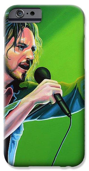 Eddie Vedder of Pearl Jam iPhone Case by Paul Meijering