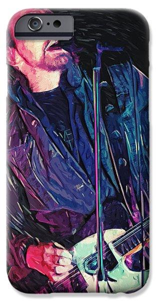 Pearl Jam iPhone Cases - Eddie Vedder iPhone Case by Taylan Soyturk