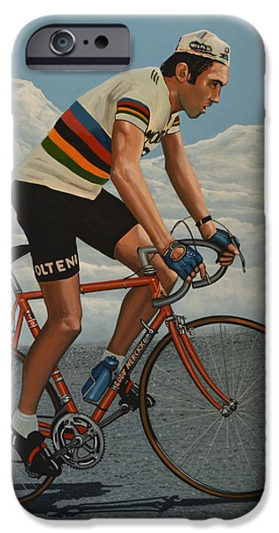 Cycling iPhone Cases - Eddy Merckx iPhone Case by Paul  Meijering