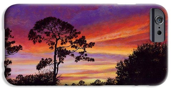 Pines iPhone Cases - Eden Road 3 iPhone Case by Barbara L Clark
