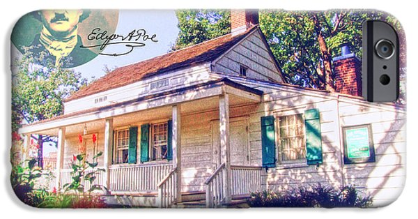 Autographed Digital iPhone Cases - Edgar Allan Poe Cottage with Signature iPhone Case by Nishanth Gopinathan
