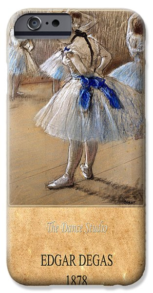 Dance Studio iPhone Cases - Edgar Degas 1 iPhone Case by Andrew Fare