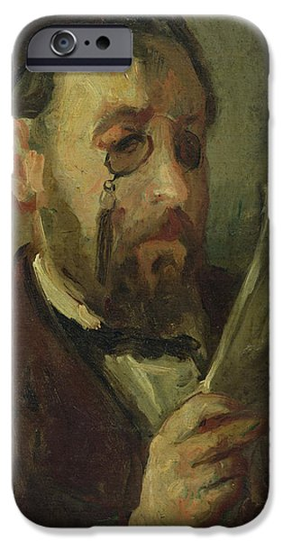 Painter Photographs iPhone Cases - Edgar Degas 1834-1917 Oil On Canvas iPhone Case by Marcellin Gilbert Desboutin