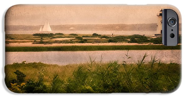 Cape Cod Landscapes iPhone Cases - Edgartown Lighthouse iPhone Case by Bill  Wakeley
