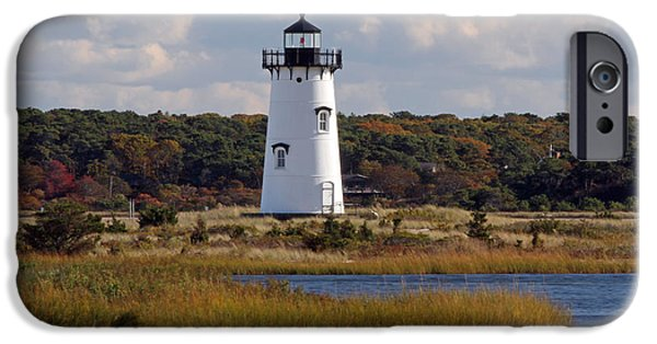 Vineyard Photograph iPhone Cases - Edgartown Lighthouse iPhone Case by Juergen Roth