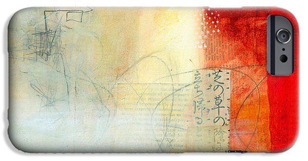 Abstract Collage iPhone Cases - Edge Location 5 iPhone Case by Jane Davies