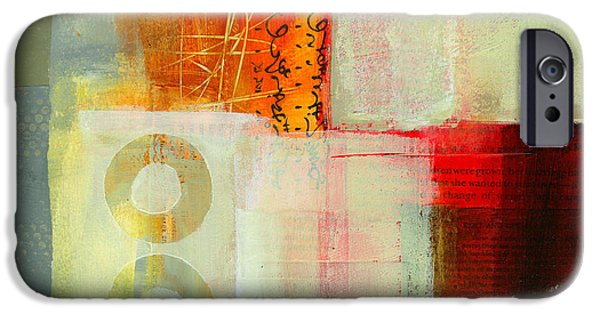 Abstract Collage iPhone Cases - Edge Location 6 iPhone Case by Jane Davies
