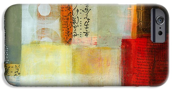 Abstract Collage iPhone Cases - Edge Location 7 iPhone Case by Jane Davies