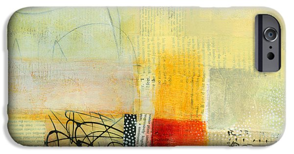 Abstract Collage iPhone Cases - Edge Location 9 iPhone Case by Jane Davies