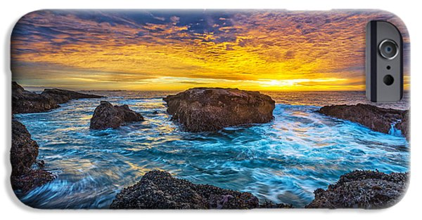 Ocean Sunset iPhone Cases - Edge of North America iPhone Case by Robert Bynum