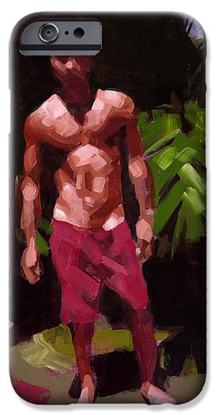 Figures Paintings iPhone Cases - Edge of the Forest iPhone Case by Douglas Simonson