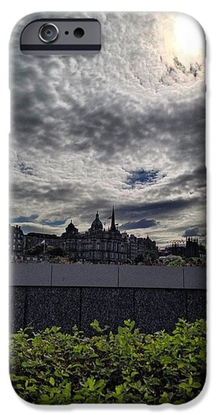 Mounds iPhone Cases - Edinburgh Twilight iPhone Case by Karen Bain