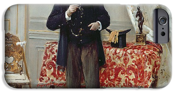 Furniture iPhone Cases - Edmond Taigny iPhone Case by Jean Beraud