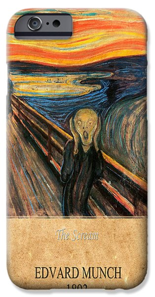 The Scream iPhone Cases - Edvard Munch 1 iPhone Case by Andrew Fare