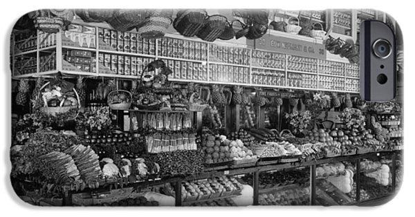 United iPhone Cases - Edw. Neumann, Broadway Market, Detroit, Michigan, C.1905-15 Bw Photo iPhone Case by Detroit Publishing Co.