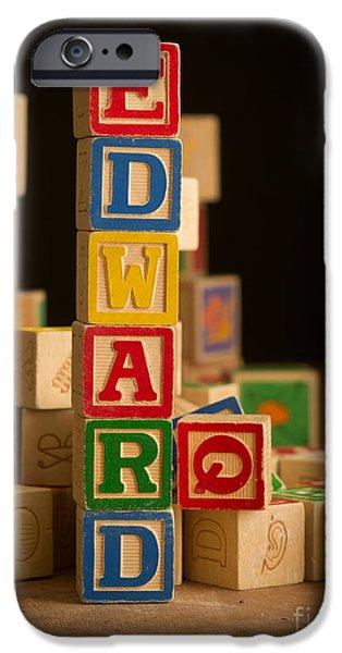 Alphabet iPhone Cases - EDWARD - Alphabet Blocks iPhone Case by Edward Fielding