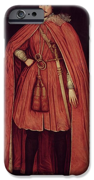 Edward iPhone Cases - Edward Herbert, Lord Herbert Of Cherbury, C.1604 42 Oil On Canvas iPhone Case by Robert Peake