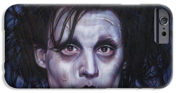 Airbrush iPhone Cases - Edward Scissorhands iPhone Case by Tim  Scoggins