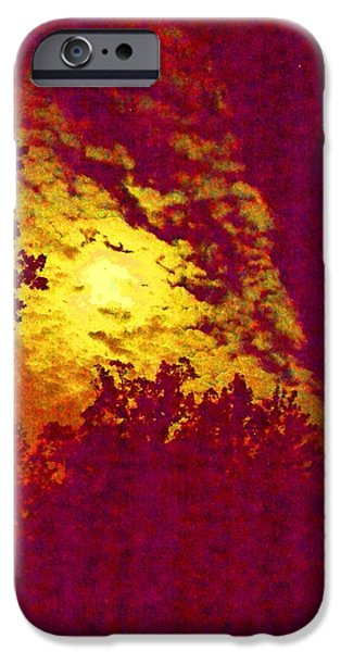 Moonscape iPhone Cases - Eerie Moon iPhone Case by Carlee Ojeda