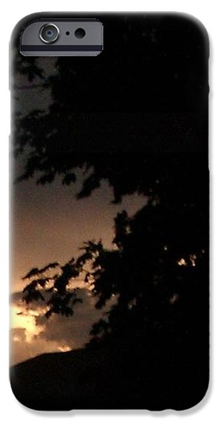 Eerie sky after the storm iPhone Case by Gail Matthews