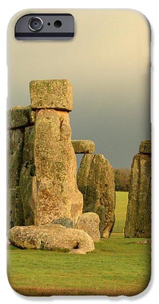 Eerie Stonehenge 2 iPhone Case by Deborah Smolinske